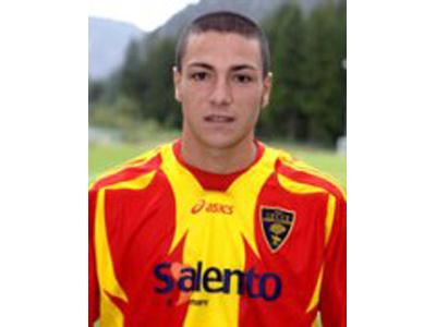 Giuseppe Caccavallo, qui con la maglia del Lecce (dal sito wlecce.it)