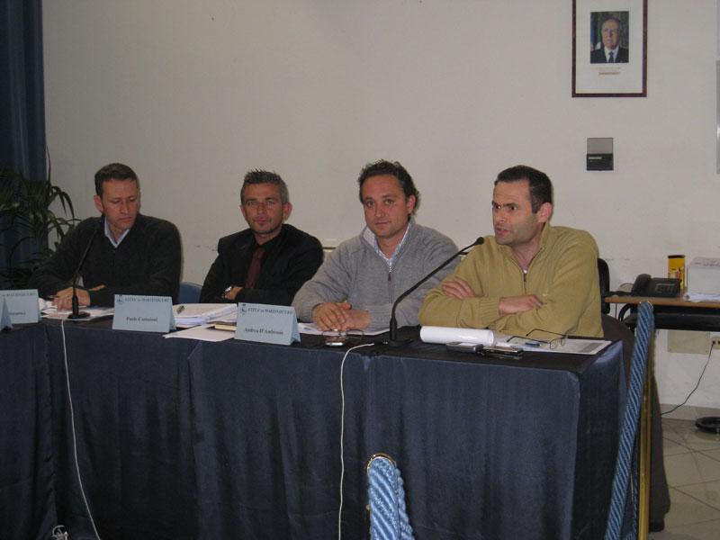Il gruppo consiliare di Città Attiva: Stefano Ciapanna, Paolo Camaioni, Andrea D'Ambrosio e Alduino Tommolini