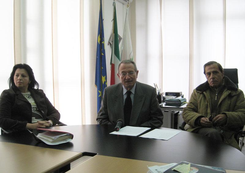 Patrizia Ciufegni, il sindaco Di Salvatore ed Enzo Carboni