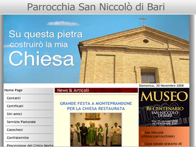 Il sito della parrocchia San Niccolò