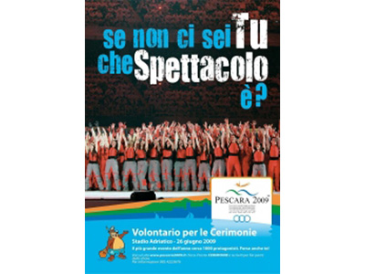 La locandina dei Giochi del Mediterraneo 2009