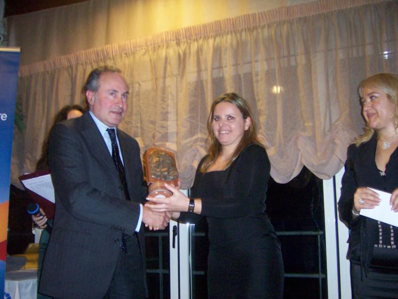 Paolo Traini con Alessandra Clementi nella prima edizione del Premio