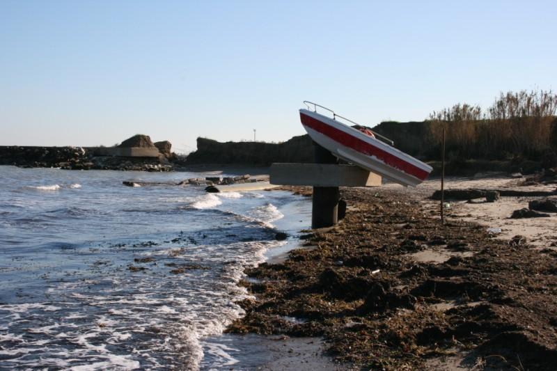 Gli effetti dell'erosione sulla spiaggia della Sentina