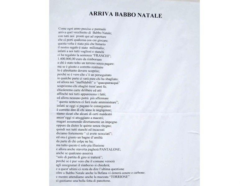 I versi in rima di Alleanza Nazionale contro la giunta Di Salvatore