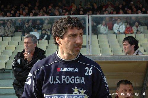 Fulvio D'Adderio ai tempi in cui allenava il Foggia (foto www.usfoggiagol.it)