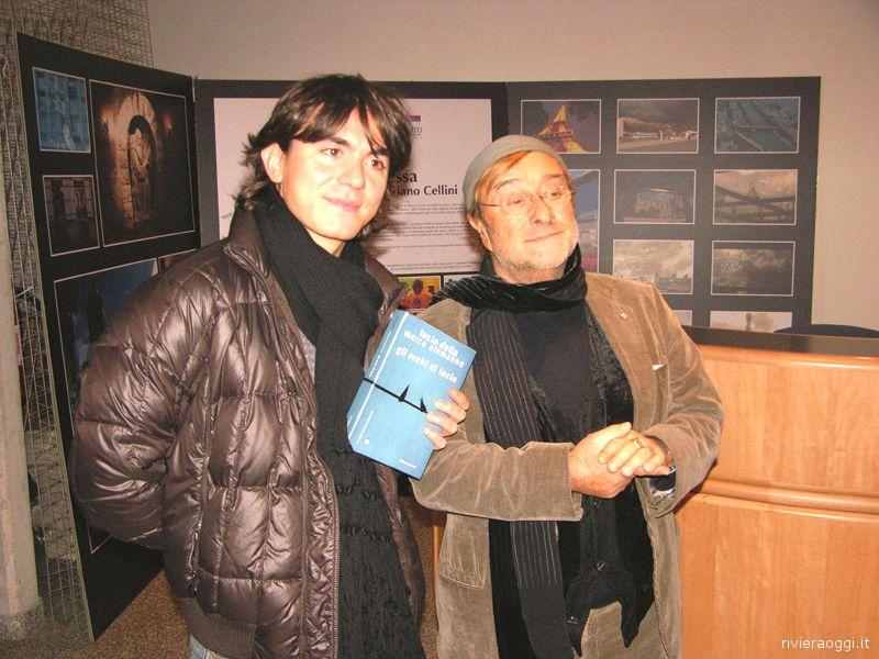Marco Alemanno e Lucio Dalla a San Benedetto nel gennaio 2009 per presentare il libro-dvd Gli occhi di Lucio all'auditorium comunale