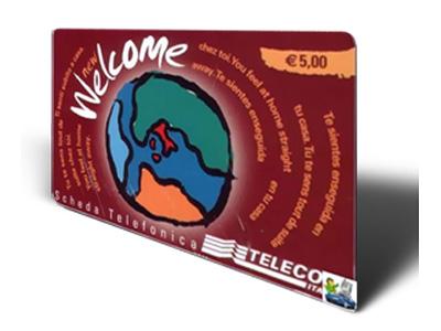 Una scheda telefonica internazionale della Telecom