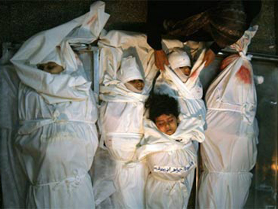 Le cinque sorelle Balousha, palestinesi, morte in un raid aereo israeliano: Jawaher 4 anni, Dina 8, Samar 12, Ikram 14, Tahrir 17 anni. Una foto che sta facendo il giro del mondo, nella sua tragicità