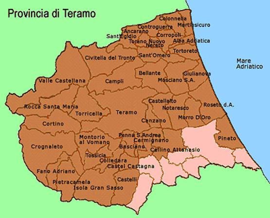 La provincia di Teramo