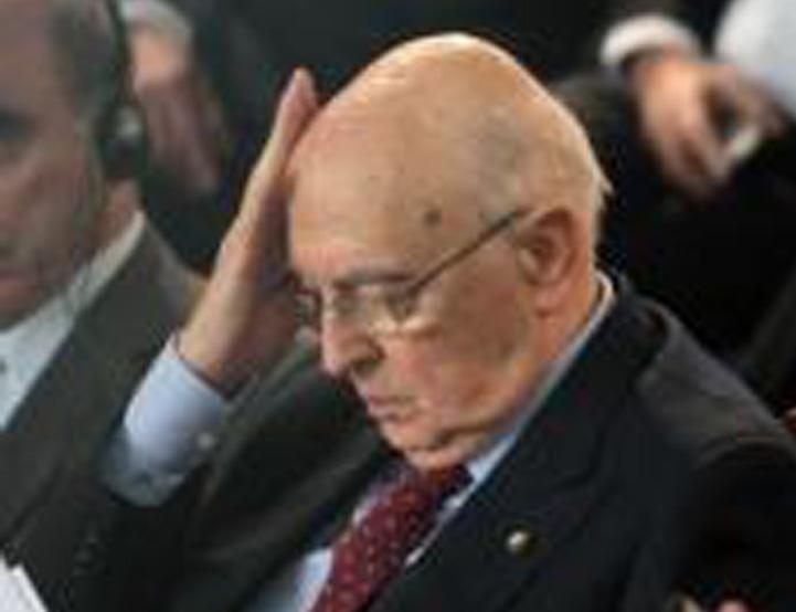 Il presidente della Repubblica italiana, Giorgio Napolitano