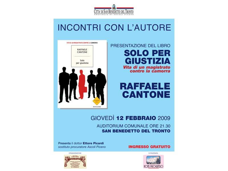 Raffaele Cantone presenta il suo libro