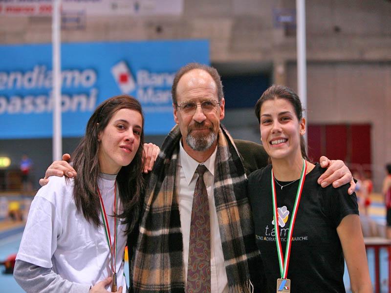 Jennifer Massaccisi, Francesco Butteri ed Enrica Cipolloni reduci dai recenti successi nell'atletica