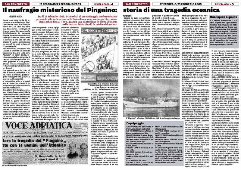 Riviera Oggi numero 763 commemora la tragedia del motopeschereccio Pinguino con due pagine in cui ricostruisce la misteriosa vicenda