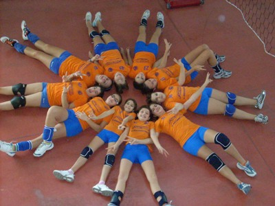 Le ragazze dell'Under 13 della Truentum Volley