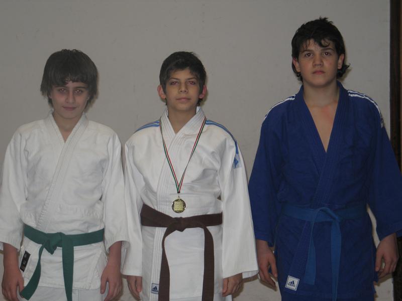 I tre giovani atleti del