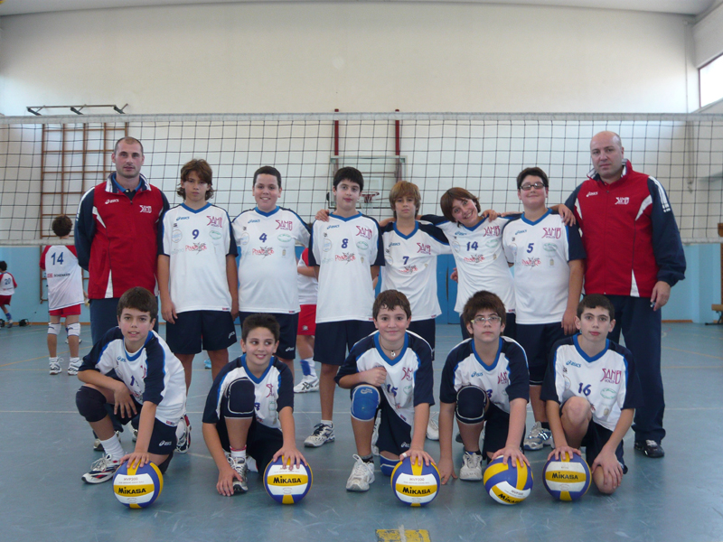 La formazione dell'Under 14 Samb Volley