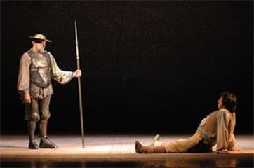 Una scena tratta dal Don Chisciotte di Maurizio Scaparro, scene di Roberto Francia