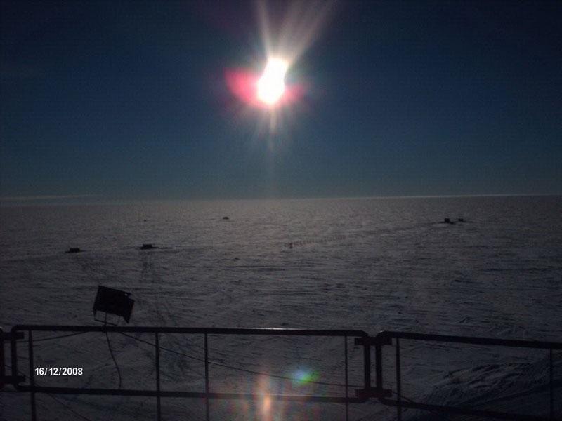 Tramonto al Polo Sud