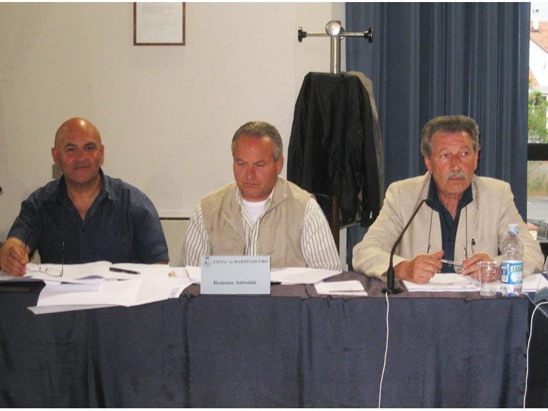 Mauro Paci, Romano Antonini e Ignazio Caputi