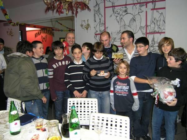 I ragazzi della Samb Volley ad una cena conviviale