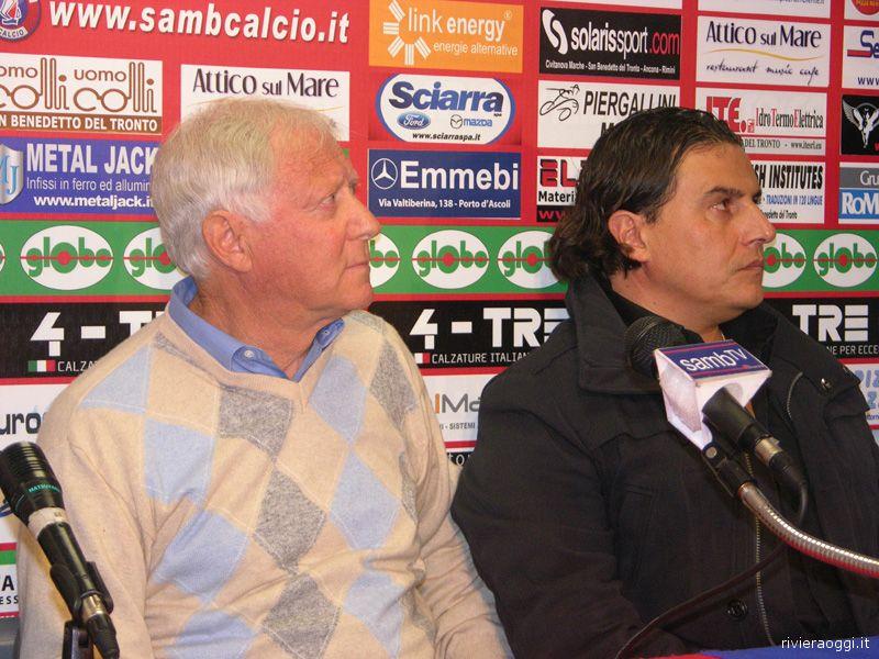 Giorgio Rumignani e Sergio Spina, insieme per salvare la Samb