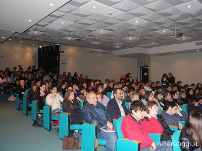 Gli studenti all'Auditorium durante