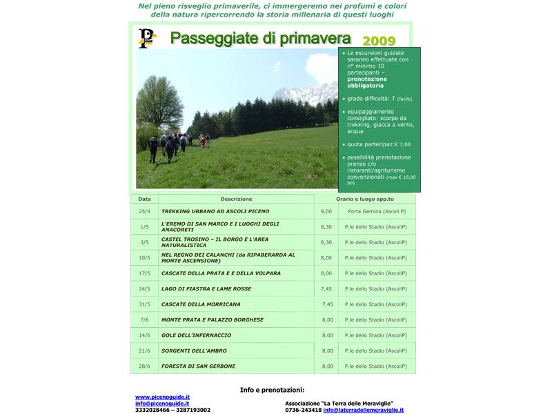 Il programma delle escursioni organizzate da PicenoGuide
