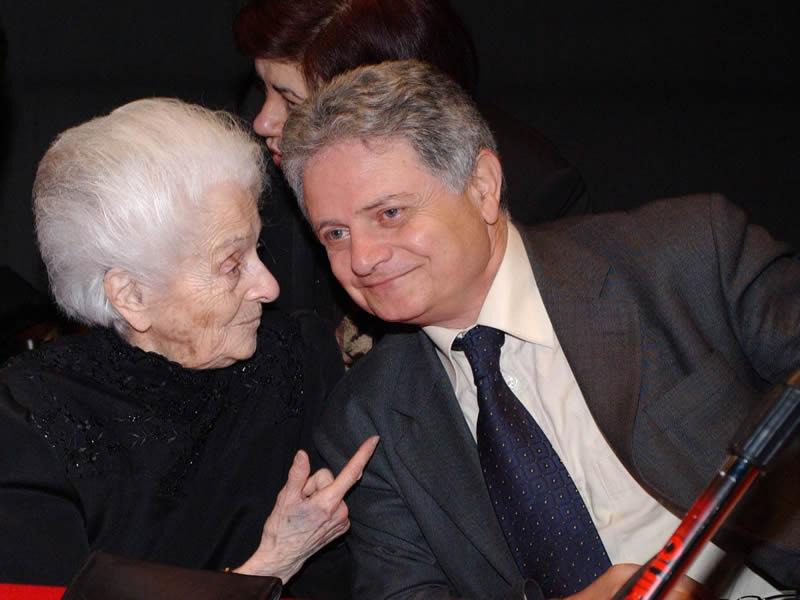 Rita Levi Montalcini e Ubaldo Maroni