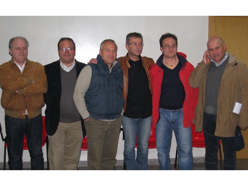 Luigino Fedeli e Giacinto De Luca di An, Romano Antonini, Paolo Camaioni e Andrea D'Ambrosio di Città Attiva, Mauro Paci del Pd