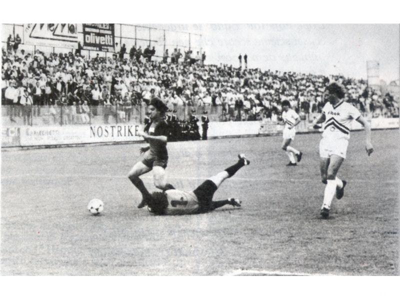 Un fallo da rigore commesso su Borgonovo nel campionato 1984-85, quando era alla Samb