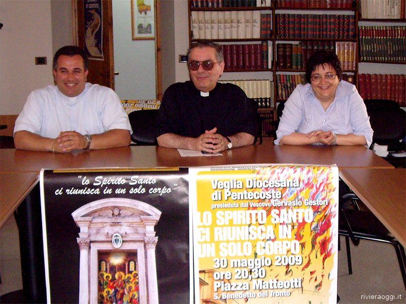 Don Caludio Marchetti, Monsignor Romualdo Scarponi e Pina Mandozzi