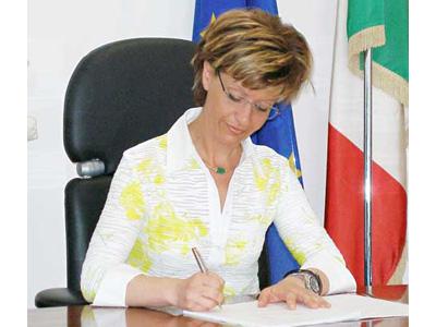 L'assessore regionale alla Protezione Civile Daniela Stati