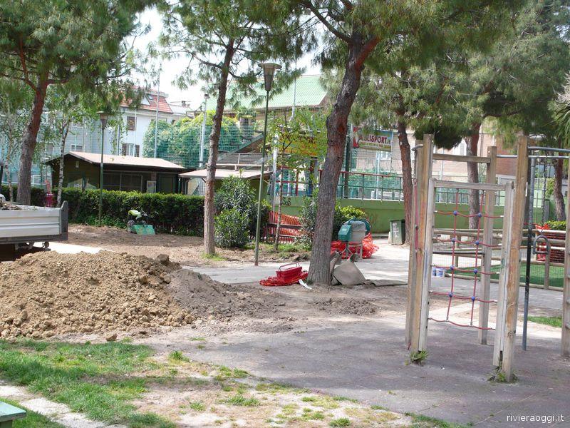 Lavori in corso al Parco di via Formentini