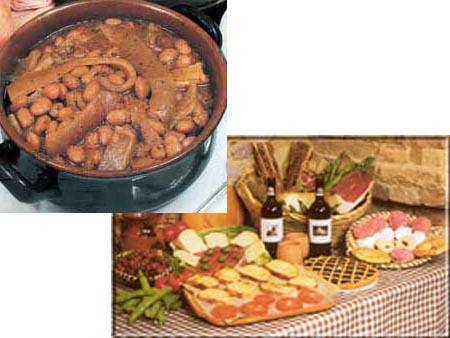 I fagioli con le cotiche e i prodotti tipici di Acquaviva