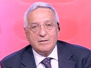 Il parlamentare Giorgio La Malfa (PRI)