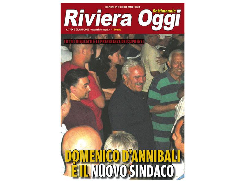 La copertina di Riviera Oggi numero 779 dedicata a Cupra Marittima e al suo nuovo sindaco Domenico D'Annibali