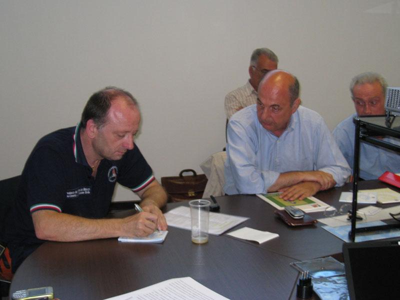 Lorenzo Alessandrini della Protezione Civile e Maurizio Vianello della Faita Federcamping