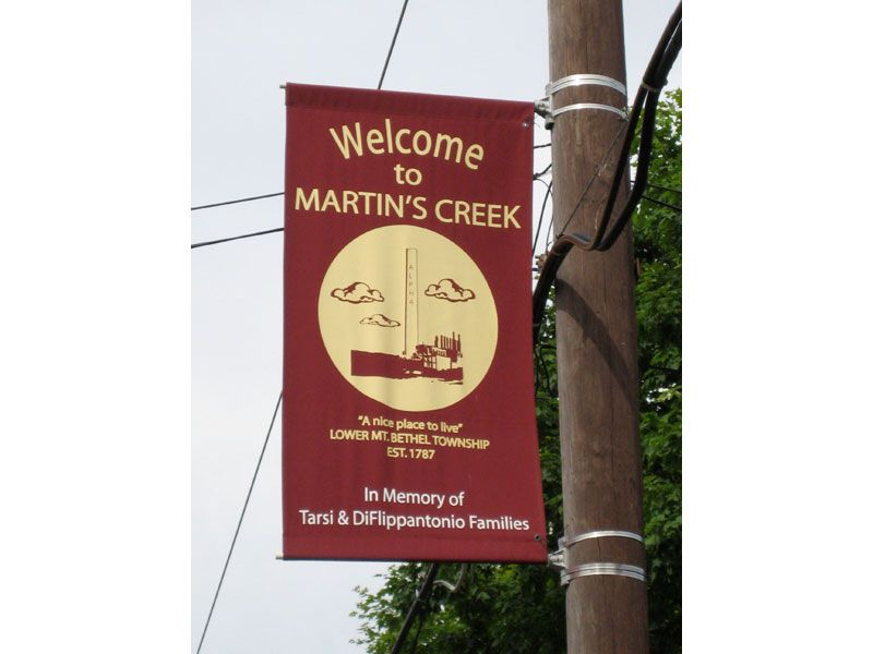 Arrivo a Martins Creek