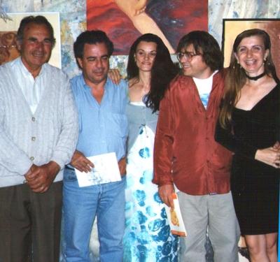 Il Maestro Vince Tempera insieme agli artisti dell'Arca dei Folli