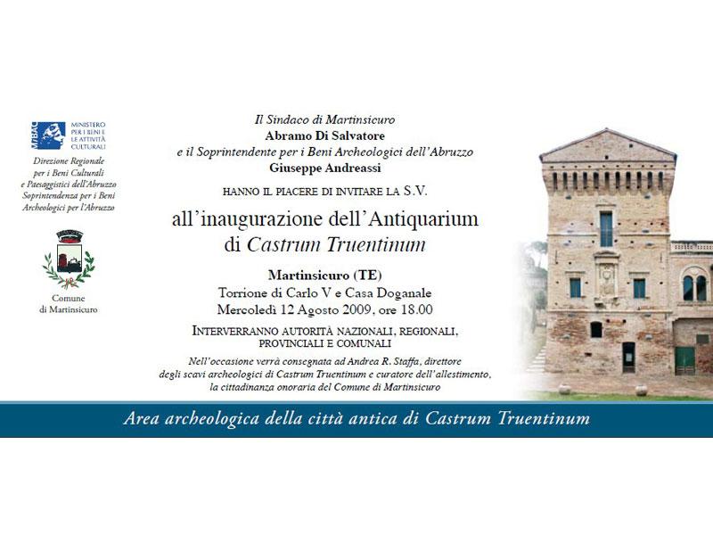 La locandina con l'invito per l'inaugurazione del Museo