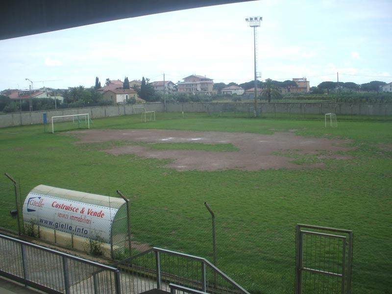 Il campo sportivo di Martinsicuro