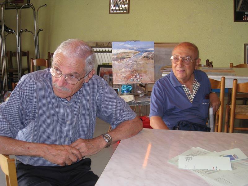 I critici d'arte Umberto Zaccaria e Giulio Gasparotti