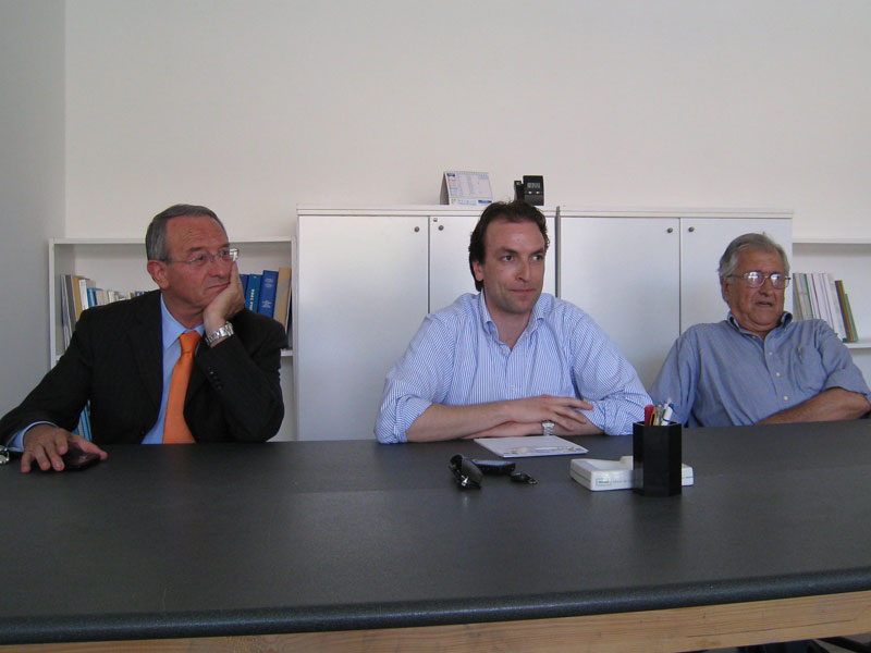 Il sindaco Di Salvatore, Massimo Vagnoni e Gianfilippo Vallese