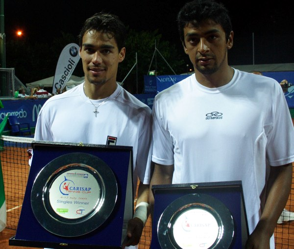 Fognini e Villagran dopo la finale