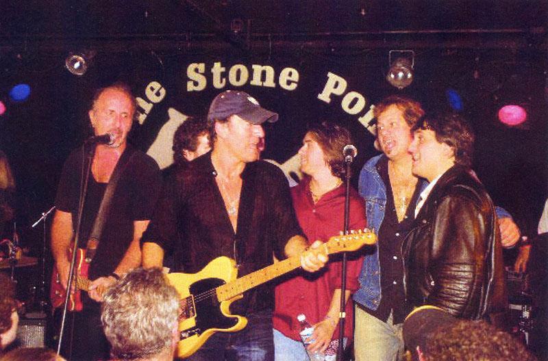 D'Urso in una foto d'epoca con Bruce Springsteen