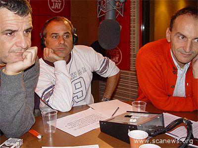 Giorgio Gherarducci, Marco Santin, Carlo Taranto: i tre componenti della Gialappa's Band