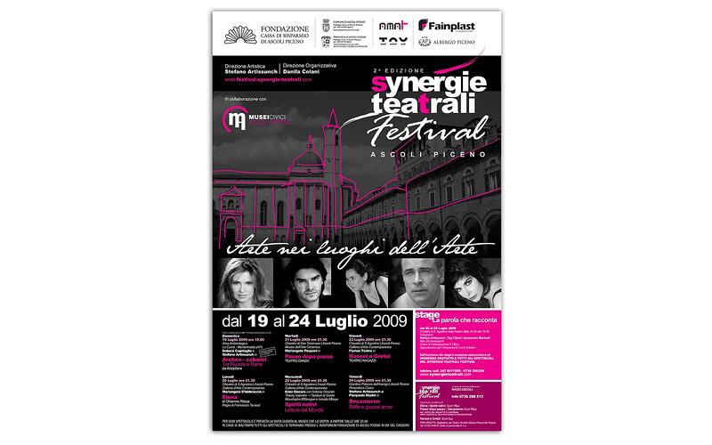 La locandina di Synergie Teatrali 2009