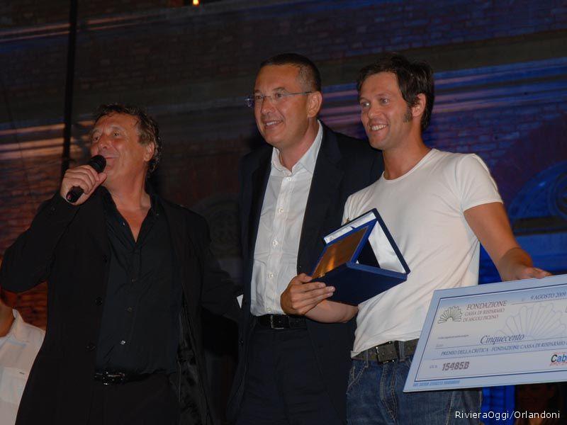 Il premio della critica Cassa di Risparmio di Ascoli Piceno a Taroppi