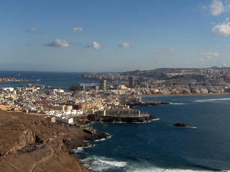 Una veduta della città di Las Palmas