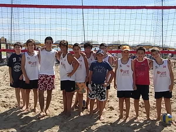 I ragazzi del Samb Volley Beach
